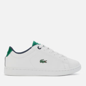 Lacoste Kids' Carnaby Evo 120 Low Top Trainers - White/Green