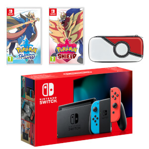 Nintendo Switch (Neon Blue/Neon Red) Pokémon Sword and Pokémon Shield Double Pack