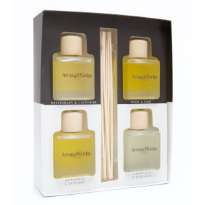 AromaWorks Light Range - 4 x 100ml Reed Diffuser Gift Set