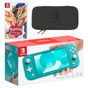 Nintendo Switch Lite (Turquoise) Pokémon Shield Pack