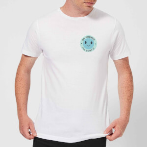 Ok Boomer Blue Smile Pocket Print Men's T-Shirt - White