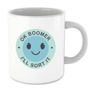 Ok Boomer Blue Smile Mug