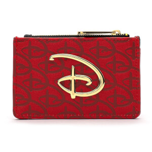 Loungefly Red/Blk Disney Logo Debossed Cardholder