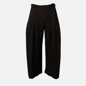 JW Anderson Women's Pleated Cropped Trousers - Black