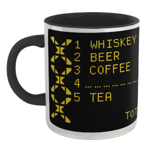 Family Fortunes Our Survey Said .... Whiskey Mug - White/Black