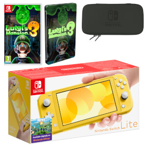 Nintendo Switch Lite (Yellow) Luigi's Mansion 3 Pack