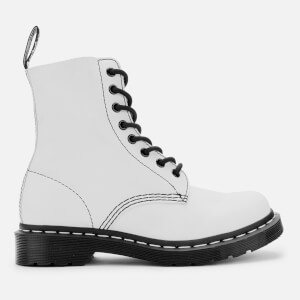 Dr. Martens Women's 1460 Pascal Virginia Leather 8-Eye Boots - Optical White