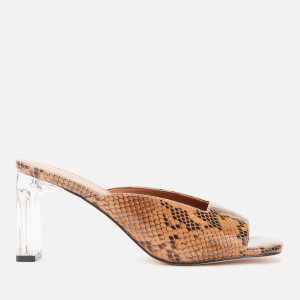 Kurt Geiger London Women's Briane Leather Heeled Mules - Beige Comb