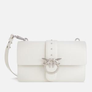 Pinko Women's Classic Love Shoulder Bag - Silver Grey