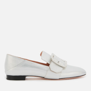 Bally Women's Janelle-Crystal Leather Loafers - Silver