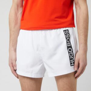 BOSS Men's Mooneye Swim Shorts - White
