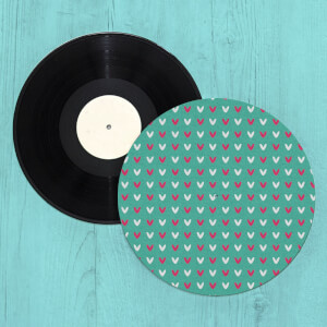 Hearts Turntable Slip Mat