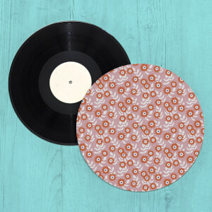 Bright Flowers Turntable Slip Mat