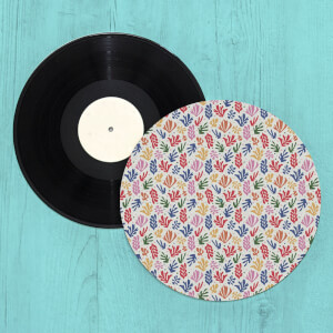 Colourful Coral Shapes Turntable Slip Mat