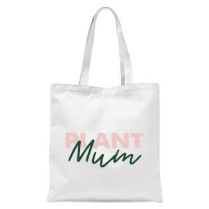 Plant Mum Script Tote Bag - White