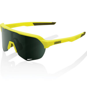 100% S2 Sunglasses with Grey Green Lens