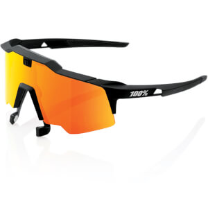 100% Speedcraft Air Sunglasses with HiPER Red Mirror Lens