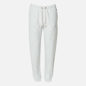 Champion Women's Tonal Script Rib Cuff Pants - Grey Heather