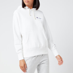 Champion Women's Small Script Hooded Sweatshirt - White