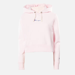 Champion Women's Central Script Hooded Sweatshirt - Pink