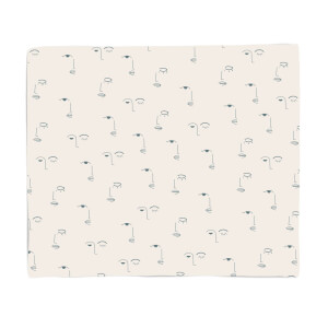 Eyes And Lips Fleece Blanket
