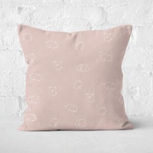 Pigs Square Cushion