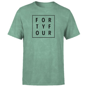How Ridiculous Typographic Forty Four Square T-Shirt - Mint Green Acid Wash