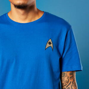Embroidered Medic Badge Star Trek T-shirt - Royal Blue