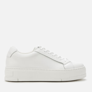 Vagabond Women's Judy Leather Flatform Trainers - White