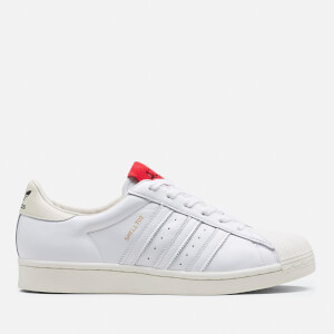 adidas X 424 Men's Shell Toe Trainers - White/Scarlett