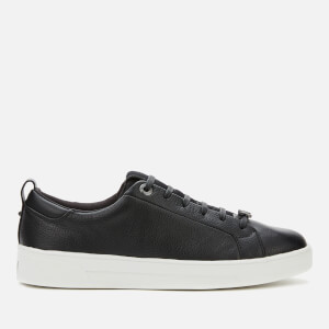 Ted Baker Women's Tedah Branded Leather Trainers - Black