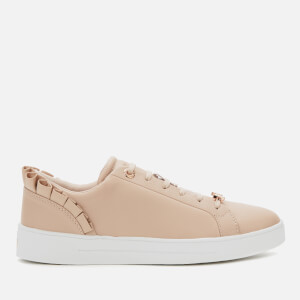 Ted Baker Women's Astrina Ruffle Detail Tennis Trainers - Pink