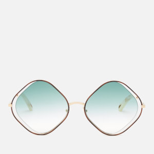 Chloé Women's Poppy Diamond Frame Sunglasses - Havana/Gradient Petrol