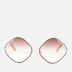 Chloé Women's Poppy Diamond Frame Sunglasses - Havana/Brown Rose Sand
