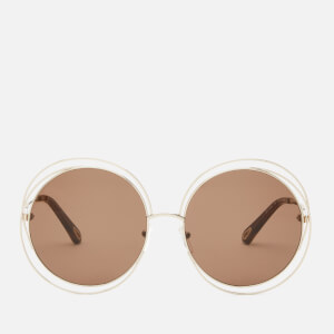 Chloé Women's Carlina Round Frame Sunglasses - Gold/Brown
