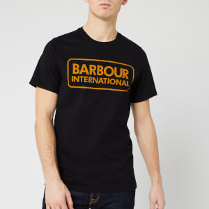 Barbour International Men's Essential Large Logo T-Shirt - Black