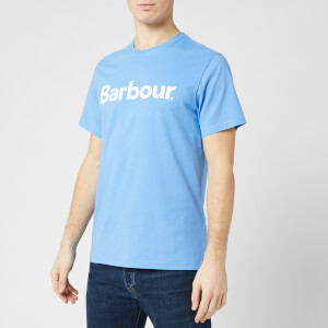 Barbour Men's Logo T-Shirt - Delft Blue