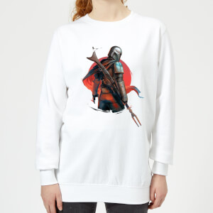 The Mandalorian Blaster Rifles Women's Sweatshirt - White