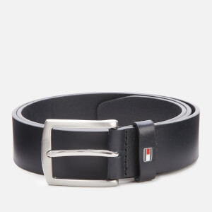 Tommy Hilfiger Men's New Denton Leather Belt - Midnight