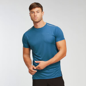 Training Grid T-Shirt - Pilot Blue
