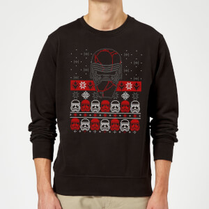 Star Wars Kylo Ren Ugly Holiday Sweatshirt - Black