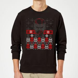 Star Wars Kylo Ren Ugly Holiday Sweatshirt - Black