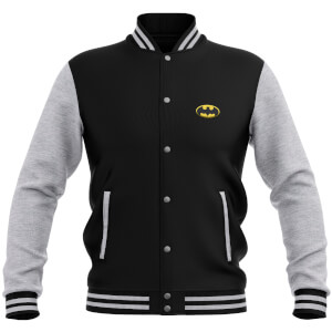 DC Comics Batman Varsity Jacket - Black / Grey