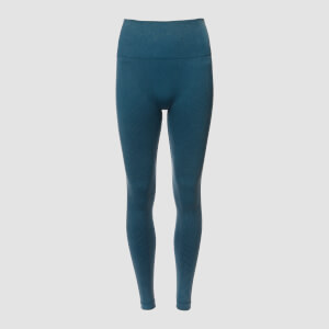 Acid Wash Seamless Leggings - Mörkblå