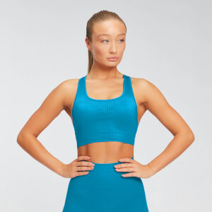MP Women's Shape Seamless Ultra Sports Bra - Sea Blue