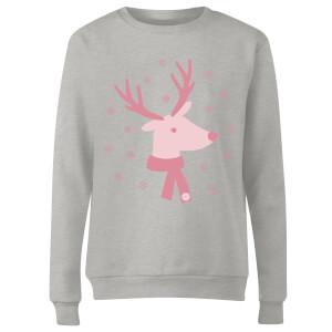 GLOSSYBOX Women's Christmas Jumper - GLOSSY Reindeer - Grey