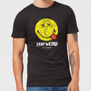 Stay Weird Upside Down Smiley Men's T-Shirt - Black
