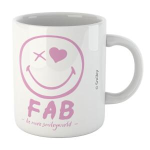 Fab Pink Smiley Mug