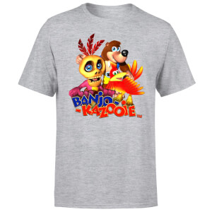 Banjo Kazooie Group T-Shirt - Grey