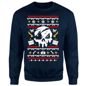 Sea of Thieves Christmas Sweater - Navy